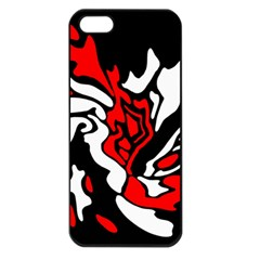 Red, black and white decor Apple iPhone 5 Seamless Case (Black)