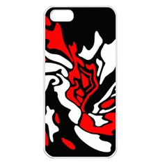 Red, black and white decor Apple iPhone 5 Seamless Case (White)