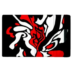 Red, black and white decor Apple iPad 2 Flip Case
