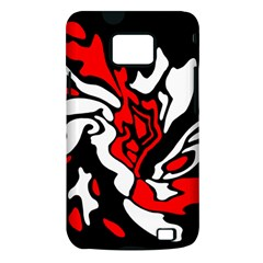 Red, black and white decor Samsung Galaxy S II i9100 Hardshell Case (PC+Silicone)