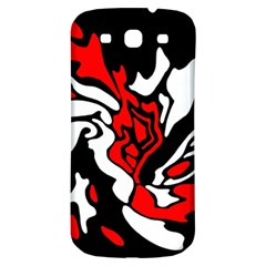 Red, black and white decor Samsung Galaxy S3 S III Classic Hardshell Back Case