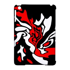 Red, black and white decor Apple iPad Mini Hardshell Case (Compatible with Smart Cover)
