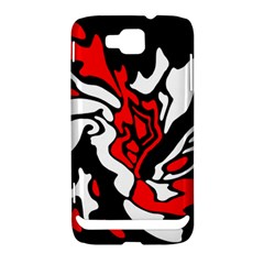 Red, black and white decor Samsung Ativ S i8750 Hardshell Case