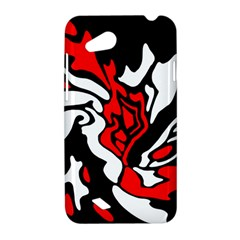 Red, black and white decor HTC Desire VC (T328D) Hardshell Case