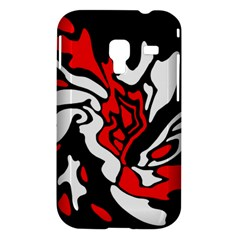 Red, black and white decor Samsung Galaxy Ace Plus S7500 Hardshell Case