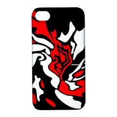 Red, black and white decor Apple iPhone 4/4S Hardshell Case with Stand