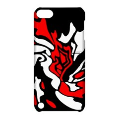 Red, black and white decor Apple iPod Touch 5 Hardshell Case with Stand