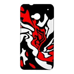 Red, black and white decor HTC One M7 Hardshell Case