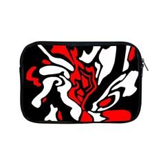 Red, black and white decor Apple iPad Mini Zipper Cases