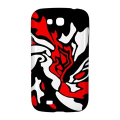Red, black and white decor Samsung Galaxy Grand GT-I9128 Hardshell Case
