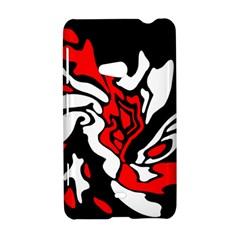 Red, black and white decor Nokia Lumia 625
