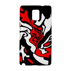 Red, black and white decor Samsung Galaxy Note 4 Hardshell Case