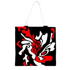 Red, black and white decor Grocery Light Tote Bag