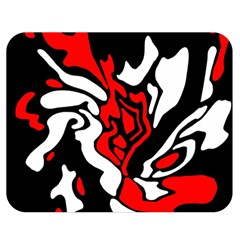 Red, black and white decor Double Sided Flano Blanket (Medium)