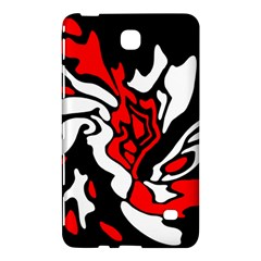Red, black and white decor Samsung Galaxy Tab 4 (7 ) Hardshell Case