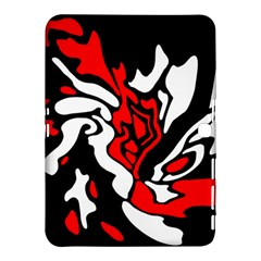 Red, black and white decor Samsung Galaxy Tab 4 (10.1 ) Hardshell Case