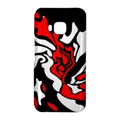Red, black and white decor HTC One M9 Hardshell Case