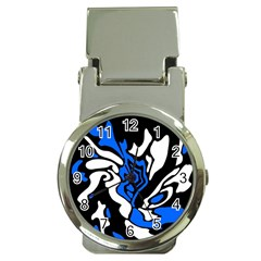 Blue, Black And White Decor Money Clip Watches