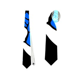 Blue, black and white decor Neckties (Two Side)