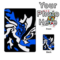 Blue, black and white decor Multi-purpose Cards (Rectangle)