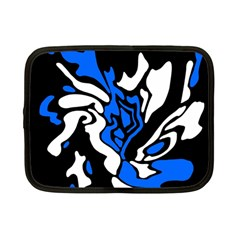 Blue, black and white decor Netbook Case (Small)