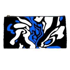 Blue, black and white decor Pencil Cases
