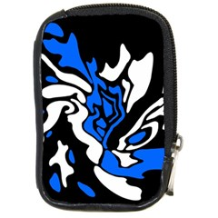Blue, black and white decor Compact Camera Cases