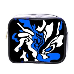 Blue, black and white decor Mini Toiletries Bags