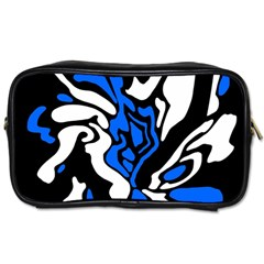 Blue, black and white decor Toiletries Bags 2-Side