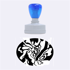 Blue, black and white decor Rubber Oval Stamps