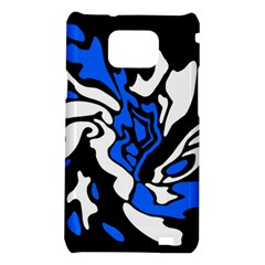 Blue, black and white decor Samsung Galaxy S2 i9100 Hardshell Case