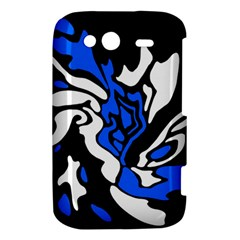 Blue, black and white decor HTC Wildfire S A510e Hardshell Case