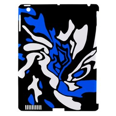 Blue, black and white decor Apple iPad 3/4 Hardshell Case (Compatible with Smart Cover)