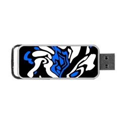 Blue, black and white decor Portable USB Flash (Two Sides)