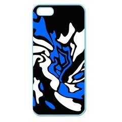 Blue, black and white decor Apple Seamless iPhone 5 Case (Color)