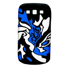 Blue, black and white decor Samsung Galaxy S III Classic Hardshell Case (PC+Silicone)