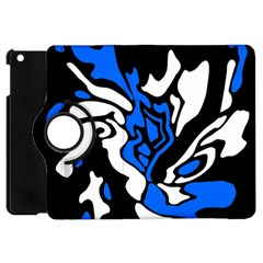 Blue, black and white decor Apple iPad Mini Flip 360 Case