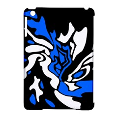 Blue, black and white decor Apple iPad Mini Hardshell Case (Compatible with Smart Cover)