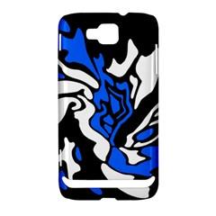 Blue, black and white decor Samsung Ativ S i8750 Hardshell Case