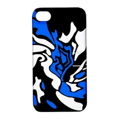 Blue, black and white decor Apple iPhone 4/4S Hardshell Case with Stand