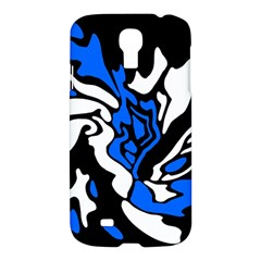 Blue, black and white decor Samsung Galaxy S4 I9500/I9505 Hardshell Case