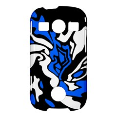 Blue, black and white decor Samsung Galaxy S7710 Xcover 2 Hardshell Case