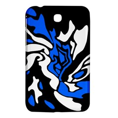 Blue, black and white decor Samsung Galaxy Tab 3 (7 ) P3200 Hardshell Case