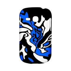Blue, black and white decor Samsung Galaxy S6810 Hardshell Case