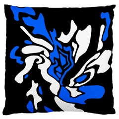 Blue, black and white decor Standard Flano Cushion Case (One Side)