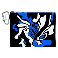 Blue, black and white decor Canvas Cosmetic Bag (XXL)