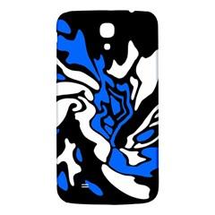 Blue, black and white decor Samsung Galaxy Mega I9200 Hardshell Back Case