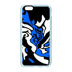 Blue, black and white decor Apple Seamless iPhone 6/6S Case (Color)