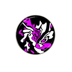 Purple, white and black decor Hat Clip Ball Marker (4 pack)