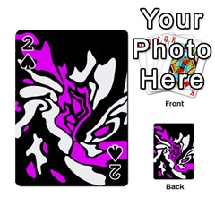 Purple, white and black decor Playing Cards 54 Designs